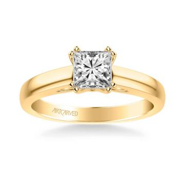 Dahlia Classic Solitaire Diamond Engagement Ring in 14k Yellow Gold