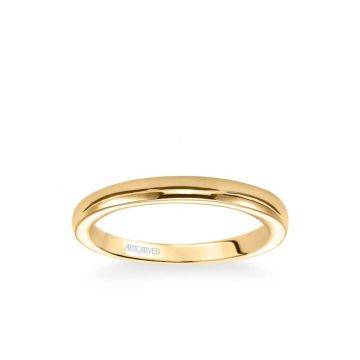 Rachel Contemporary Polished Wedding Band in 18k Yellow Gold