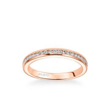 Amanda Classic Channel Set Diamond Wedding Band in 14k Rose Gold