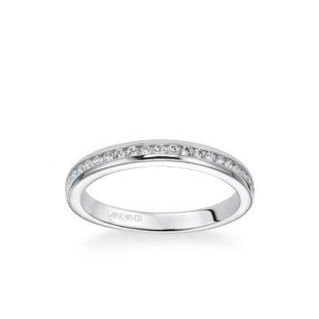 Amanda Classic Channel Set Diamond Wedding Band in 18k White Gold