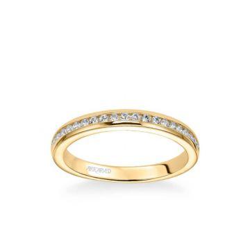 Amanda Classic Channel Set Diamond Wedding Band in 18k Yellow Gold
