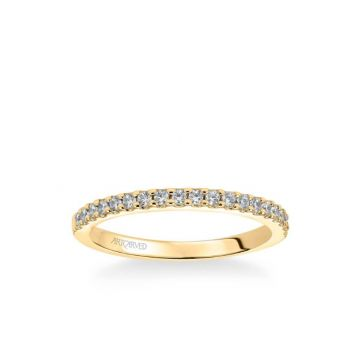 Kate Classic Diamond Wedding Band in 18k Yellow Gold
