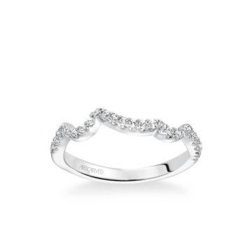 Platinum Thalia Contemporary Diamond Curved Wedding Band