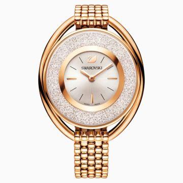Swarovski Stainless Steel Rose Tone Quartz Watch