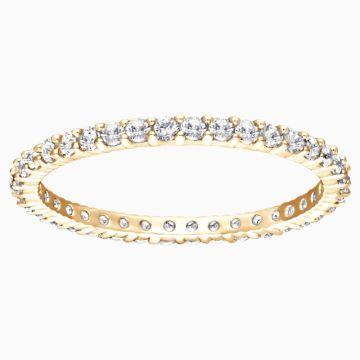 Swarovski Vittore Ring, White, Gold-Tone Plated