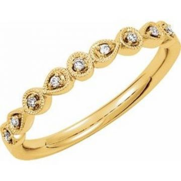 14K Yellow .04 CTW Diamond Ring Size 7
