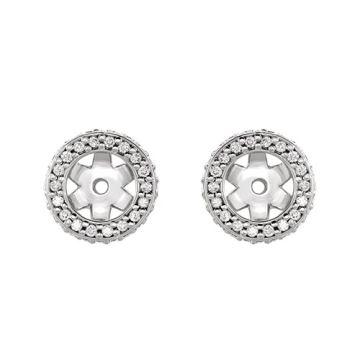 14k White Gold Diamond Earrings Jacket