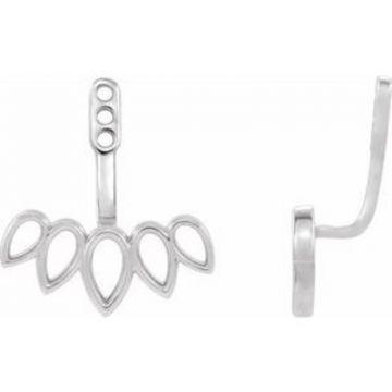 Sterling Silver Earring Jackets