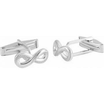 Sterling Silver 15.8x7 mm Infinity-Inspired Cuff Links