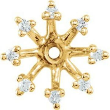 14K Yellow 1/6 CTW Diamond Earring Jackets with 6.6 mm ID