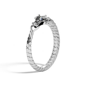 John Hardy Silver Legends Naga Women's Gemstone Bangle Bracelet