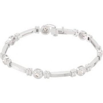 "14K White 1 CTW Diamond Line 7"" Bracelet"