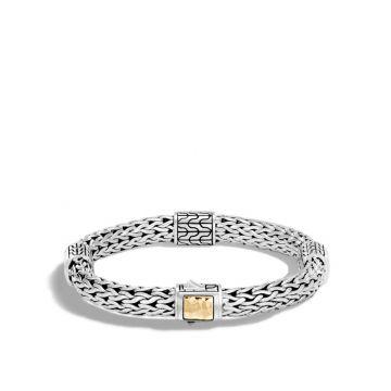 John Hardy Silver & Gold Classic Chain Women's Woven Bracelet