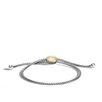 John Hardy Silver & Gold Classic Chain Women's Station Bracelet