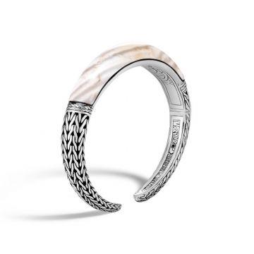 John Hardy Silver Classic Chain Women's Gemstone Cuff Bracelet