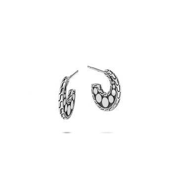 John Hardy Silver Dot Women's Hoop Earrings