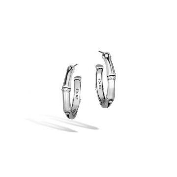 John Hardy Silver Bamboo Women's Hoop Earrings