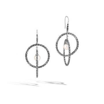 John Hardy Silver Classic Chain Women's Gemstone Drop Earrings