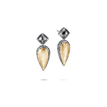 John Hardy Silver & Gold Classic Chain Women's Gemstone Drop Earrings