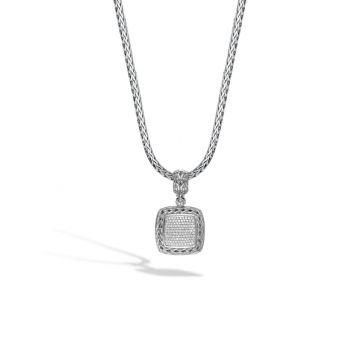 John Hardy Silver Classic Chain Women's Diamond Enhancer Necklace