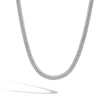 John Hardy Silver Classic Chain Women's Woven Necklace