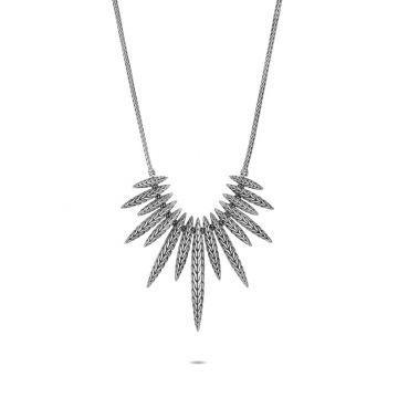 John Hardy Silver Classic Chain Women's Bib Necklace