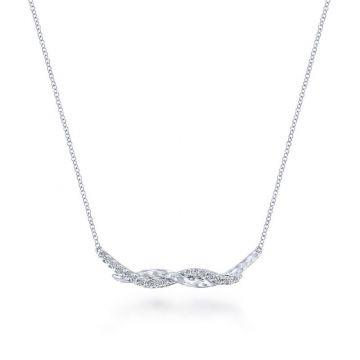 Gabriel & Co. Sterling Silver Souviens Gemstone Necklace