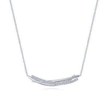 Gabriel & Co. Sterling Silver Contemporary Gemstone Necklace