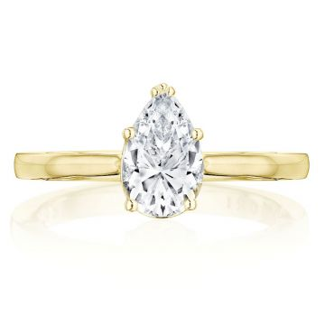 Tacori 14k Yellow Gold Coastal Crescent Solitaire Ring