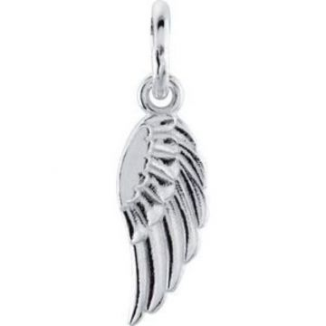 Sterling Silver 19.7x5.5 mm Angel Wing Charm