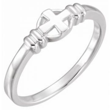 Sterling Silver Cross Chastity Ring Size 7