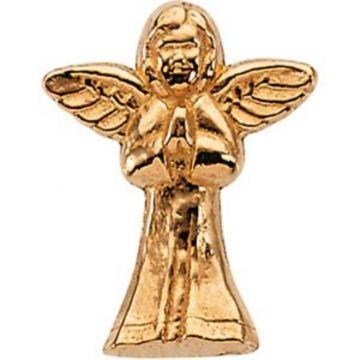 14K Yellow 16x13 mm Praying Angel Lapel Pin