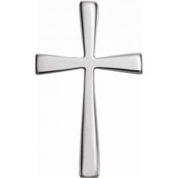 Sterling Silver 18x11 mm Cross Pendant