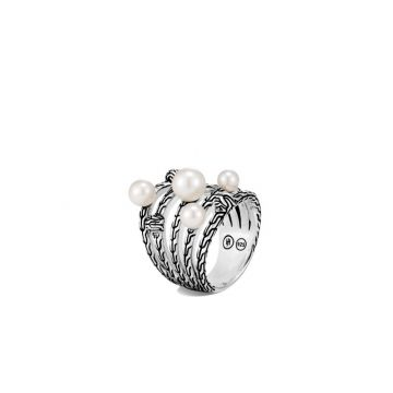 John Hardy Silver Classic Chain Women's Gemstone Ring
