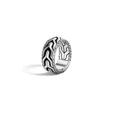 John Hardy Silver Classic Chain Men's Ring