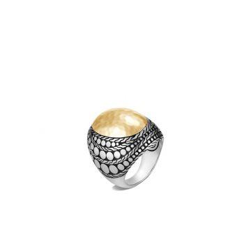 John Hardy Silver & Gold Dot Women's Dome Ring