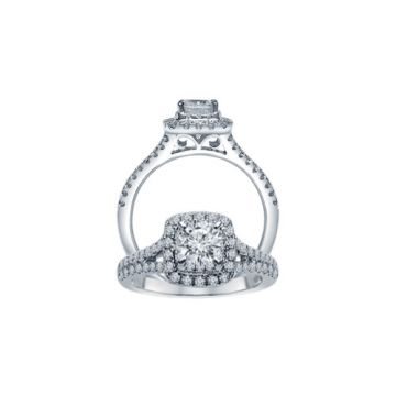 ALTR 14k White Gold Diamond Engagement Ring