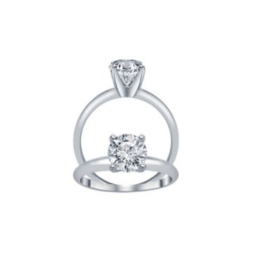 ALTR 14k White Gold Solitaire Diamond Ring