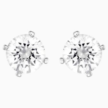 Swarovski Silver Tone Crystal Pear Earrings