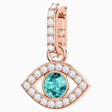 Swarovski Rose Tone Crystal Charm Bracelet