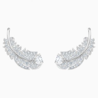 Swarovski Silver Tone Stud Earrings
