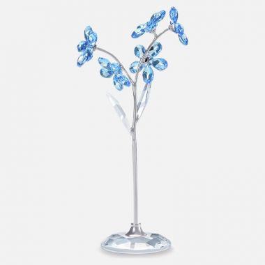 Swarovski Silver Tone Sapphire and Crystal Figurine