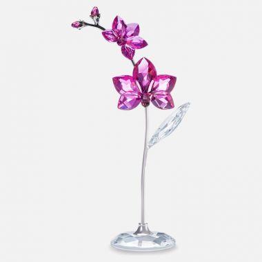 Swarovski Silver Tone Pink Crystal Figurine