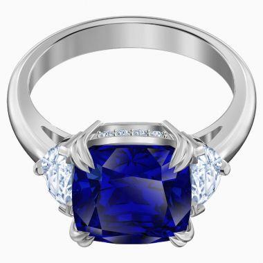 Swarovski Silver Tone Crystal Ring