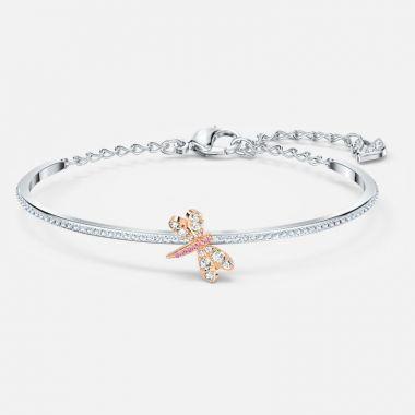 Swarovski Silver Tone Pink Crystal Bracelet