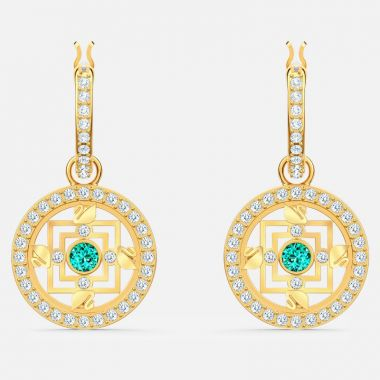 Swarovski Yellow Turquoise and Crystal Earrings