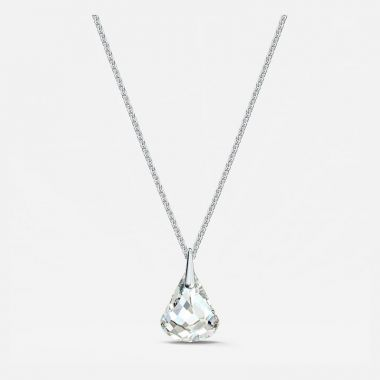Swarovski Silver Tone Crystal Necklace