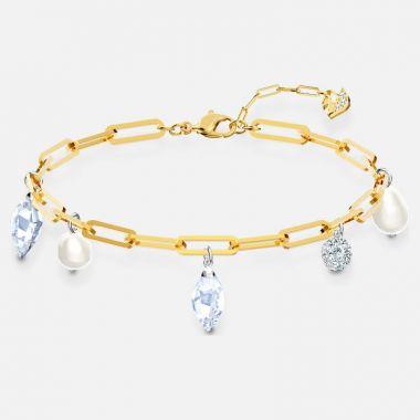 Swarovski Silver Tone Crystal Pear Bracelet