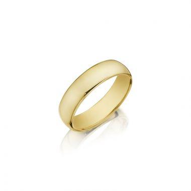 Henri Daussi 14k Yellow Gold Men's Wedding Bands